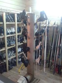Лыжи беговые (комплект с палками и ботинками)